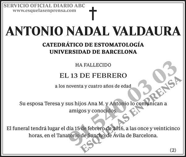 Antonio Nadal Valdaura